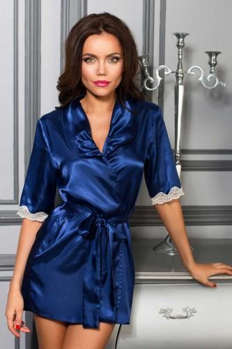 Халат Mia-Mia Crystal, синий XL