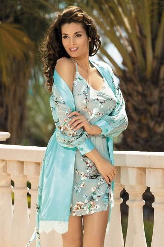Сорочка Mia-Mia Akira, голубая L