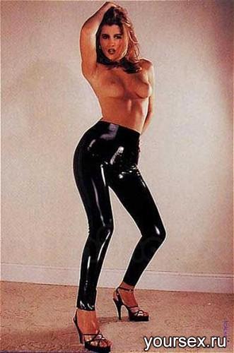 Легинсы Sharon Sloane - Latex Leggings Small, цвет черный