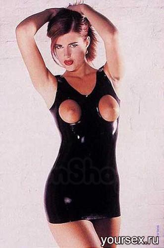 ������ � �������� �� ����� Latex Open Breast Dress