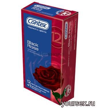 Презервативы Contex Black Rose (12 шт.)