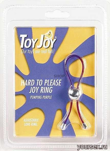 Эрекционное Кольцо Hard To Please Joy Ring Purple