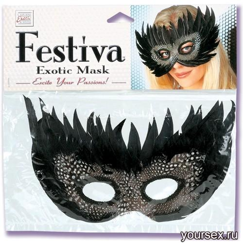 Черная Маска Festiva Exotic Mask Black