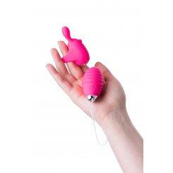 Виброяйцо и вибронасадка на палец JOS VITA, розовые