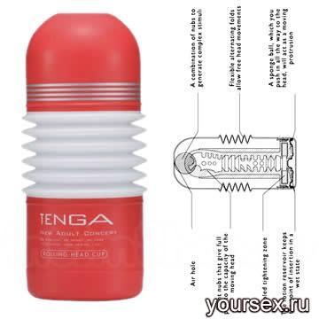 Мастурбатор Tenga - Rolling Head Cup