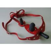 Трусики Harness Vac-U-Lock с анально-вагинальной стимуляцией - Sitabella, красные