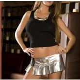 Юбка-Мини Серебряная Metall Gloss-S/M