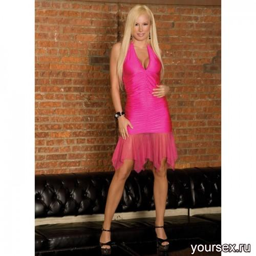 Яркое Розовое Клубное Платье Electric Lingerie OS