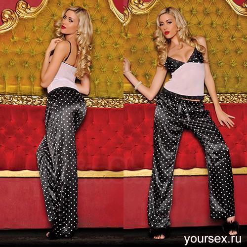 Секси-пижама штанишки и топ ГОРОХ STM-30105P L