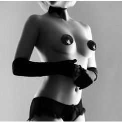 Украшение на Грудь Bijoux Indiscrets - Burlesque Pasties Sequin, черное