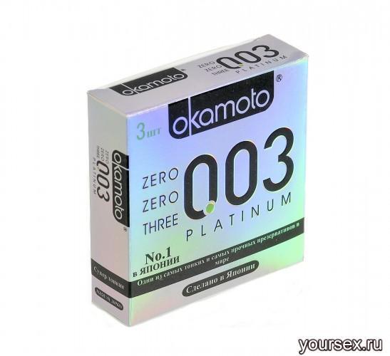 Презервативы OKAMOTO Platinum №3