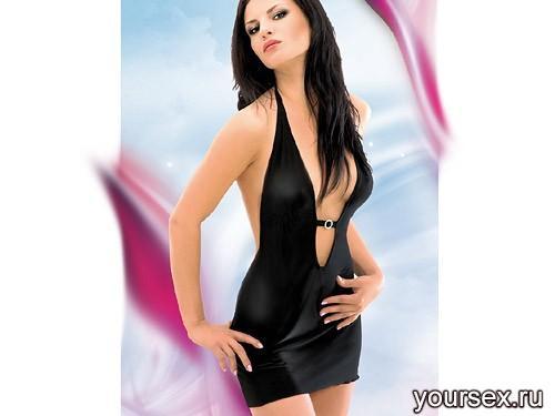 Платье SoftLine Marika, размер M/L, цвет черный