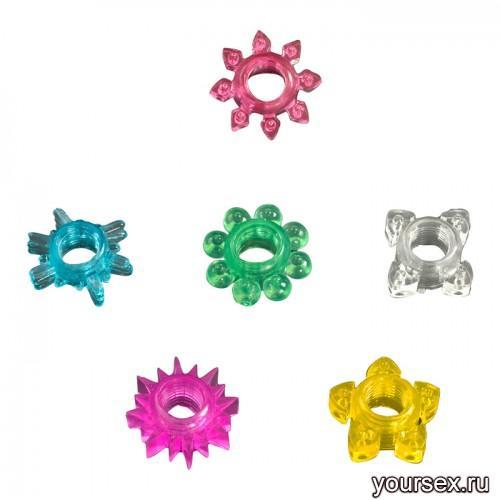 Набор Из 6 Эрекционных Колец Tower Of Power Cock Rings