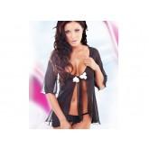 Сорочка и Стринги SoftLine Velia, размер S/M, цвет черный