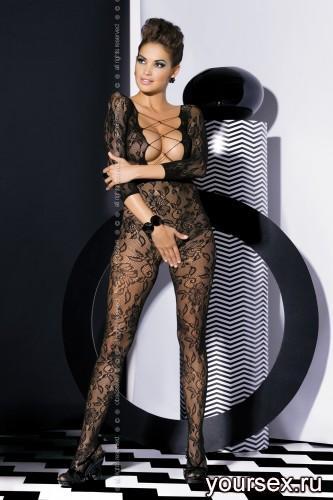 Чулок на тело Obsessive Вodystocking F200, размер S/M, цвет черный