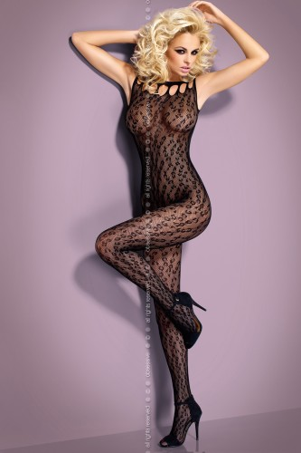 Чулок на тело Obsessive Вodystocking G306 размер L/XL, цвет черный