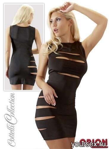 Мини-платье женское, цвет черный, размер M