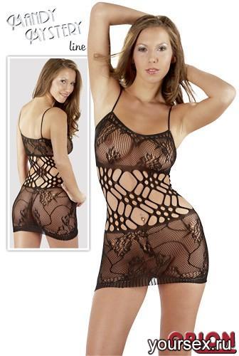 Мини-платье женское, цвет черный, размер S/M