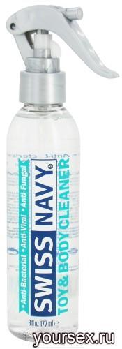 Очищающий спрей для игрушек   Swiss Navy Toy & Body Cleaner 177 мл