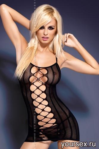 Платье Obsessive Dress D300, размер L/XL, цвет черный