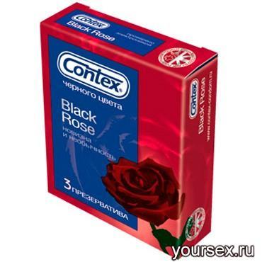 Презервативы Contex Black Rose (3 шт.)