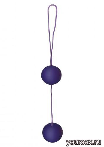 Шарики двойные вагинальные  FUNKY LOVE BALLS, цвет фиолетовый
