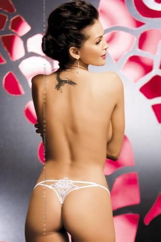 Стринги Obsessive Luiza Thong, размер L/XL, цвет белый