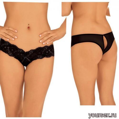 Стринги с вырезом Roxana, цвет черный, размер М/L
