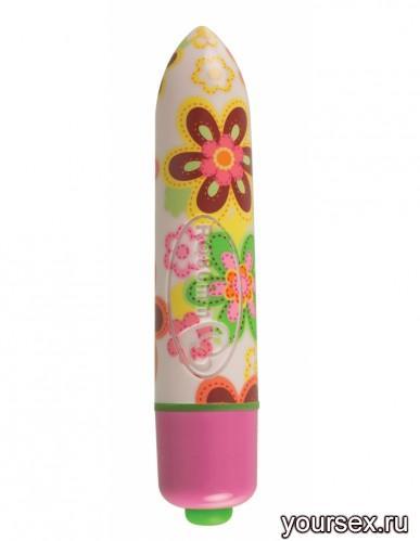 Вибропуля RO80 7 Speed, цвет цветочный рисунок
