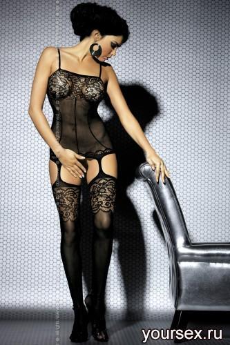 Чулок на тело Obsessive Вodystocking F204, размер XL/XXL, цвет черный