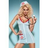 Комплект Obsessive Doctor Dress, размер L/XL, цвет голубой,