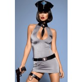 Костюм Obsessive Police Dress, XXL