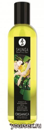 Масло для Массажа Shunga Organica Green Tea,250 мл