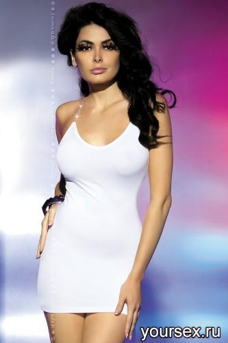 Платье Obsessive Oxalis Dress, размер S/M, цвет белый