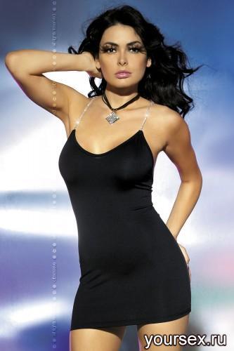 Платье Obsessive Oxalis Dress, размер S/M, цвет черный