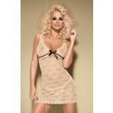 Сорочка и Стринги Obsessive Caramella Сhemise, размер L/XL, цвет карамель