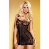 Сорочка Obsessive Dress D204, размер L/XL, цвет черный