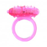 Виброкольцо VIBRATING COCKRING SILICONE PINK