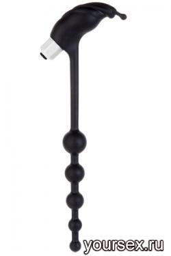 Анальный стимулятор MOOD KINKY TICKLER с вибрацией черный