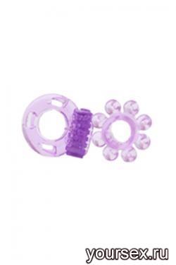 Два Кольца в Наборе Optimus с Вибрацией фиолетовый