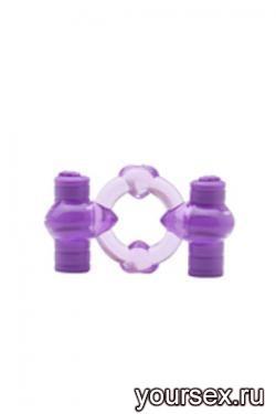 Эрекционное Кольцо Duovibrus III с Вибрацией фиолетовое