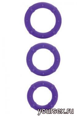 Набор Эрекционных Колец Posh Silicone Love Rings фиолетовый