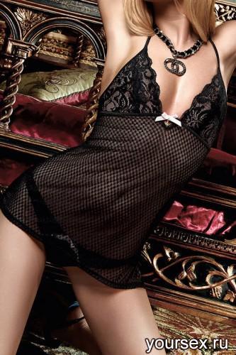 Платьице Have Fun Princess Черное из Узорчатой Ткани с Кружевным Бюстье