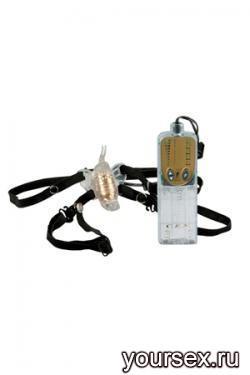 Стимулятор Клитора на Ремнях Impulse Micro Butterfly с Вибрацией прозрачный