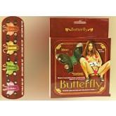 Бабочка Клиторальная на Pемне BUTTERFLY зелёная