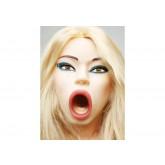 Кукла Надувная на Коленях Догги-Стайл с Вибрацией со вставками из материала CyberSkin®
