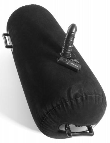 Надувная Подушка с Фаллосом и Вибрацией - Inflatable Luv Log, черная
