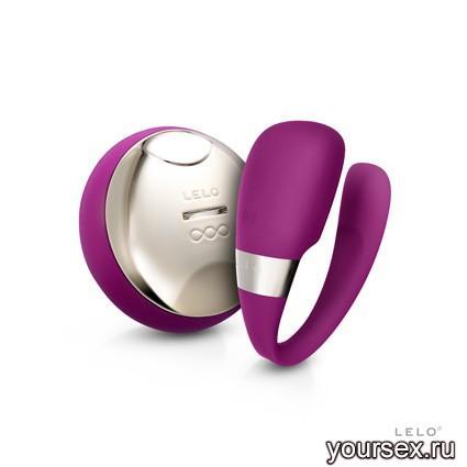 Tiani 3 Deep Rose Вибромассажер для пар с ДУ, фиолетовый