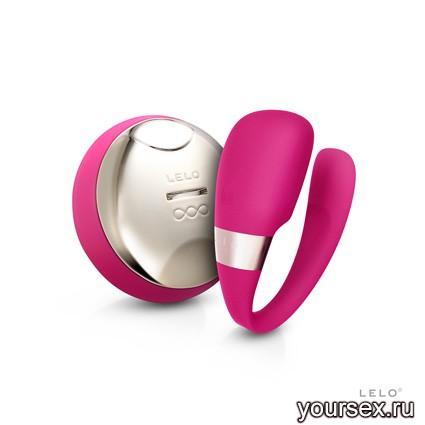 Tiani 3 Вибромассажер для Пар с ДУ, розовый