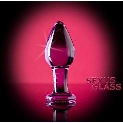 Анальная втулка Sexus Glass, прозрачная